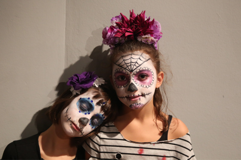 Children Dressed for Catrina Parade on Dia de Muertos